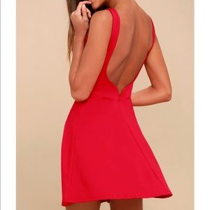 NWT Lulu's special kind of love red backless dress